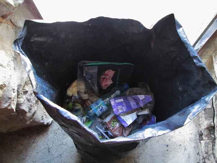porte sac poubelle